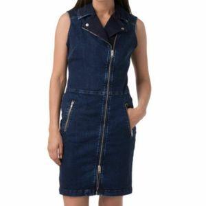NWT DIESEL  R-Trenks-T Zipper Front Denim dress